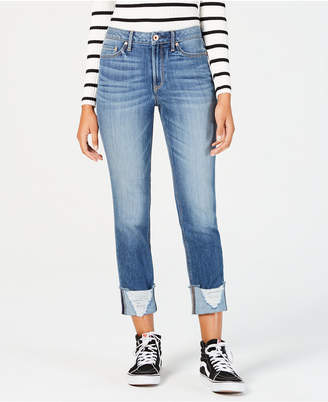 American Rag Juniors' Ripped Cuffed Jeans