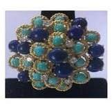 Lapis Fashion Concierge Vip Lapis, Turquoise, Diamonds 18K Gold
