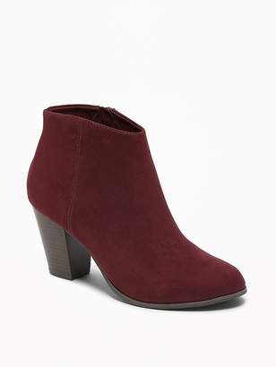 Old Navy Sueded Block-Heel Booties for Women