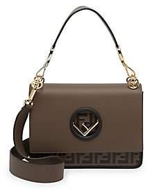 Fendi Women's FF Kan I Leather Top Handle Shoulder Bag