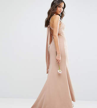 Jarlo High Neck Maxi Dress with Open Back