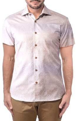 Bertigo Eithan Tropical Short Sleeve Modern Fit Cotton Hawaiian Shirt