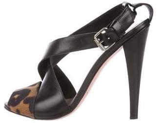 Giambattista Valli Leather Printed Sandals