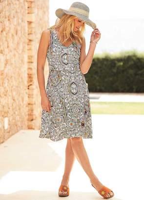 Kaleidoscope Print Flippy Jersey Dress