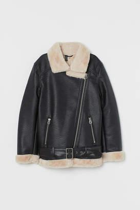 H&M Oversized Biker Jacket - Black