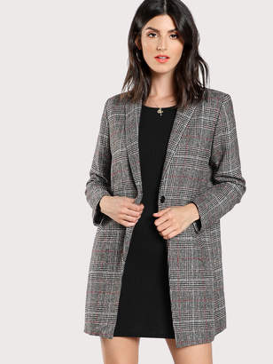 Shein Plaid Boxy Coat