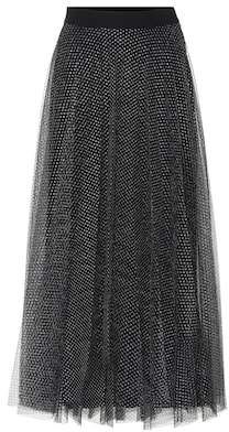 Christopher Kane Metallic tulle midi skirt