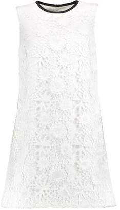 Victoria Beckham Victoria Guipure Cotton-Lace Mini Dress