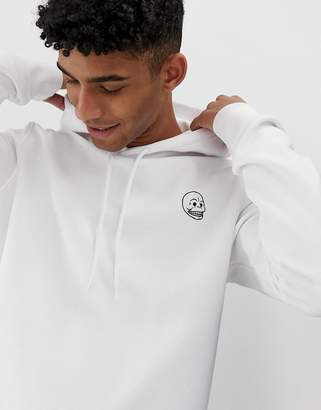 Cheap Monday hoodie with logo in white