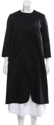 Tia Cibani A-Line Lace Hem Coat w/ Tags