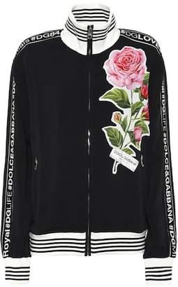 Dolce & Gabbana (ドルチェ & ガッバーナ) - Dolce & Gabbana Embroidered cady track jacket