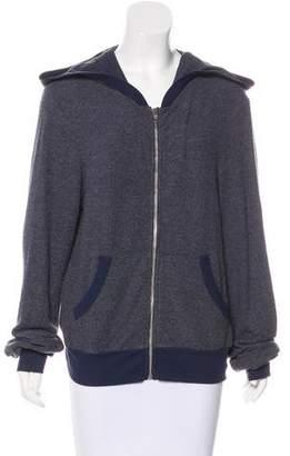 Wildfox Couture Hooded Zip-Up Sweatshirt