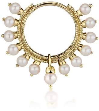 Maria Tash 9.5mm Large Pearl Coronet Earring - Yellow Gold
