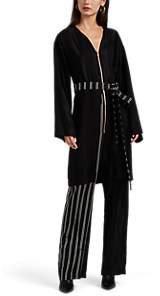 Esteban Cortazar Women's Tunic-Overlay Striped Jumpsuit - Black
