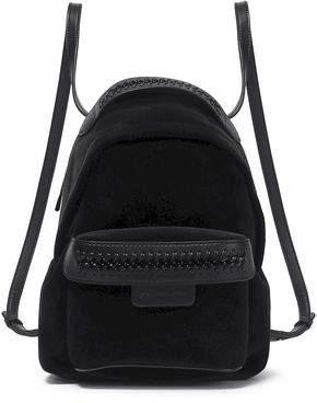 Stella McCartney Woman Faux Leather-trimmed Velvet Backpack Black Size --