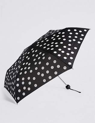 """Marks and Spencer Spotted Compact Umbrella with Stormwearâ""""¢"""