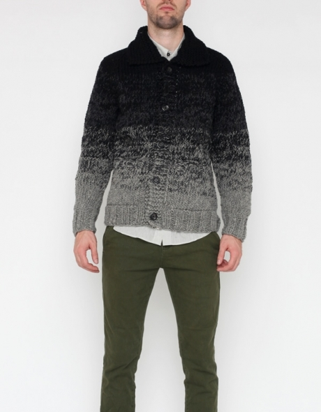 Wings + Horns Ombre Hand Knit Sweater