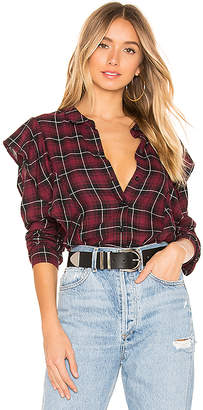 BCBGeneration Ruffle Button Down