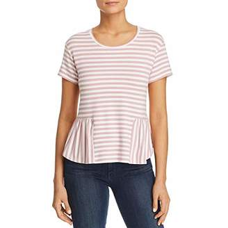 Three Dots Women's Cape cod Stripe Loose Short top