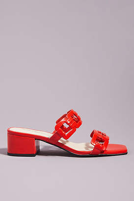 418e7a809 Intentionally Blank Cherry Heeled Sandals