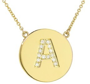 Jennifer Meyer Diamond Letter Necklace - A - Yellow Gold - Featured in InStyle