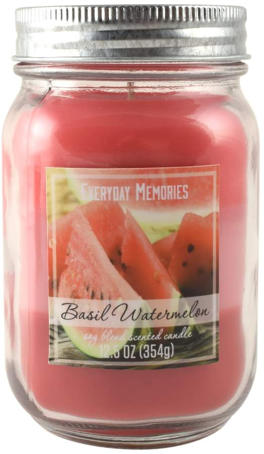 Everyday Memories Basil Watermelon 12.5-oz. Tri-Pour Candle Jar