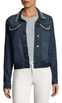 Saks Fifth Avenue Cotton Faux Pearl Jacket