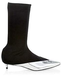 Givenchy Women's Show Metallic Capped Calf-High Boots