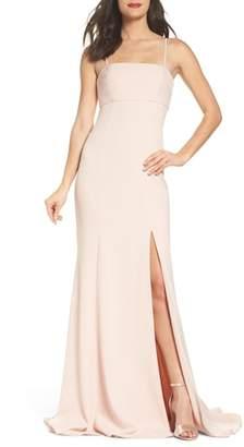 Amsale Crepe Mermaid Gown