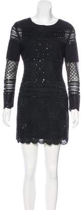 Couture St. John Embellished Knit Dress