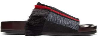 Chloé Kerenn Fringed Striped Jacquard Slides - Black