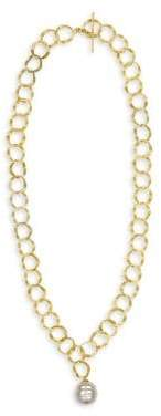 Majorica Gold& Baroque Pearl Openwork Chain Necklace