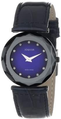 Jowissa Women's J1.017.M Safira 99 Rhinestone Navy Blue Patent Leather Watch