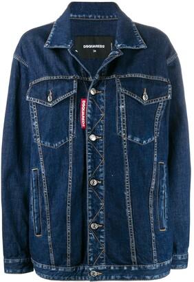 DSQUARED2 straight-fit denim jacket