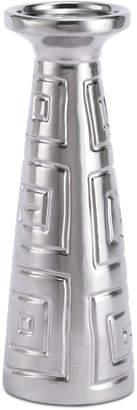 ZUO Azteca Matte Silver-Tone Medium Candle Holder