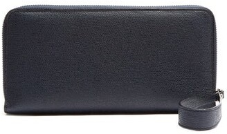 Valextra All In One Leather Travel Wallet - Mens - Navy