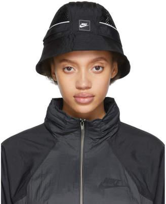 Nike Black Mesh Sportswear Bucket Hat
