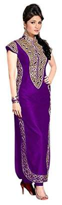 Vibesdeal Vibes Women's Banglore Silk Straight Fit Unstich Dress Material (V335-13009_P...