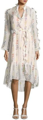 BCBGMAXAZRIA Bunty Floral-Print Midi Dress, Off White $388 thestylecure.com