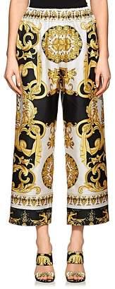 Versace Women's Baroque-Print Crop Pants