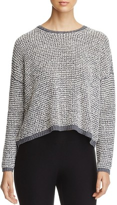 Eileen Fisher Cropped Popcorn Knit Sweater $238 thestylecure.com