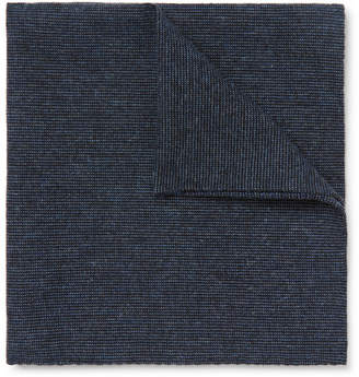 Oliver Spencer Textured-Cotton Pocket Square