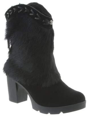 BearPaw Mariah Faux Fur Trim Block Heel Boot