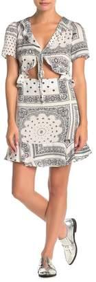 re:named apparel Cedric Cutout Ruffled Dress