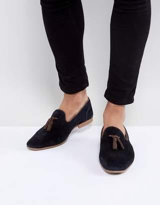 Asos Tassel Loafers In Suede