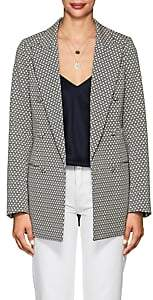 Co Women's Floral Cotton-Blend Jacquard Blazer - Black