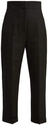 Carino High Rise Woven Trousers - Womens - Black