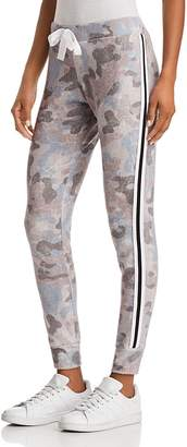 Vintage Havana Striped-Trim Camo Sweatpants