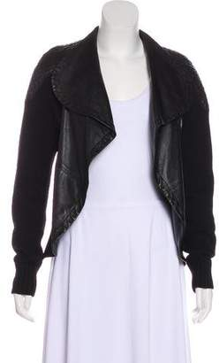 Yigal Azrouel Open Front Leather Jacket