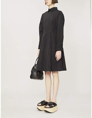 Noir Kei Ninomiya MONCLER GENIUS x perforated shell dress